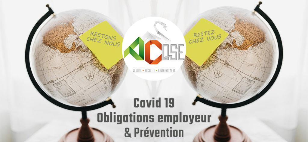 Actu COVID19 Obligations employeur et prévention