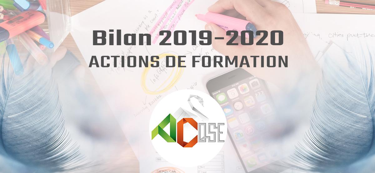 Bilan 2019-2020 de nos actions de formation